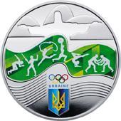 Срібна монета Ігри ХХХІ Олімпіади 10 грн. 2016 року