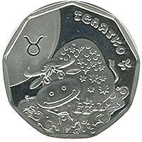 Монета Теленок 2 грн. 2014 года