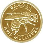 Золота монета Бджола 2 грн. 2010 року