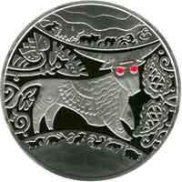 Срібна монета Рік Бика 5 грн. 2009 року