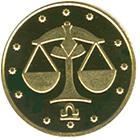 Золота монета Терези 2 грн. 2008 року