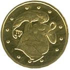 Золота монета Діва 2 грн. 2008 року