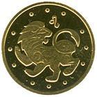 Золота монета Лев 2 грн. 2008 року
