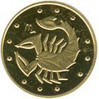 Золота монета Скорпіон 2 грн. 2007 року