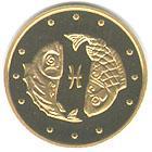 Золота монета Риби 2 грн. 2007 року