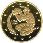 Золота монета Водолій 2 грн. 2007 року