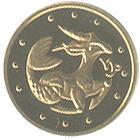 Золота монета Козеріг 2 грн. 2007 року