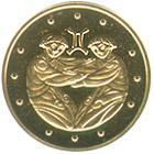 Золота монета Близнюки 2 грн. 2006 року
