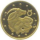 Золота монета Телець 2 грн. 2006 року
