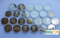 Годовая подборка 2004 года, все 24 монеты