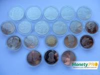Річна підбірка 2008 року, всі 19 монет