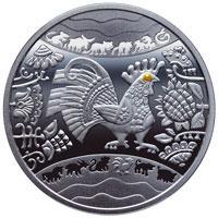 Срібна монета Рік Півня 5 грн. 2016 року