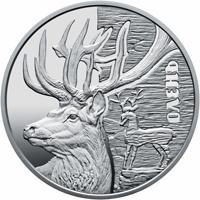 Срібна монета Олень 5 грн. 2016 року
