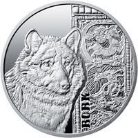 Срібна монета Вовк 5 грн. 2016 року