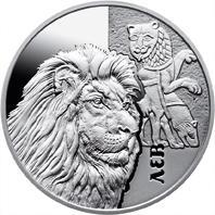 Срібна монета Лев 5 грн. 2017 року
