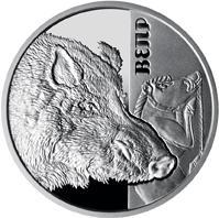 Срібна монета Вепр 5 грн. 2018 року