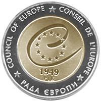 Монета 60 лет Совету Европы 5 грн. 2009 года