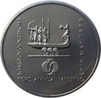 Монета Щорічні збори Ради Керуючих ЄБРР(пласт.) 2 грн. 1998 року