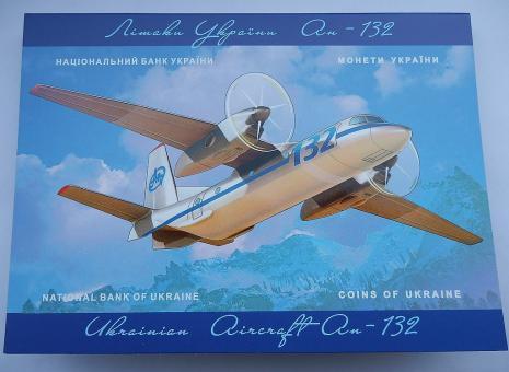 Буклет до монети Літак Ан-132 2018 року